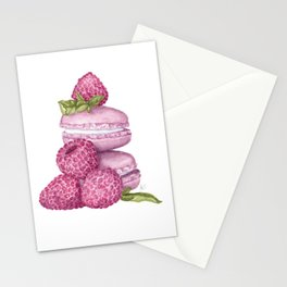 Raspberry Macaroons Stationery Cards