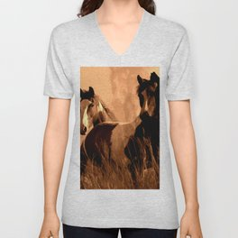 Horse Spirits Unisex V-Neck
