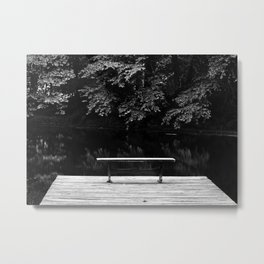 Lonely Seat (B&W) Metal Print
