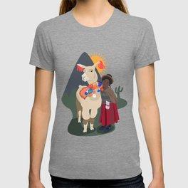 Llama and girl T-shirt