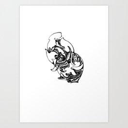 Splitting Worlds Art Print