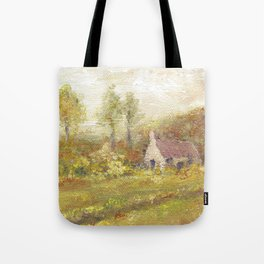 Impressionism Country Home Tote Bag