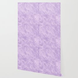 Lilac Silk Moire Pattern Wallpaper