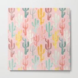 Long Multicolored Cacti Metal Print