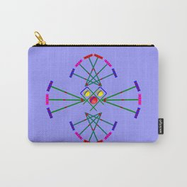 Croquet - Mallets,Balls and Hoops Design Carry-All Pouch