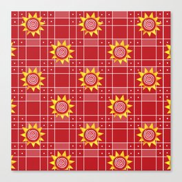 Red Hot Sunny Days Canvas Print