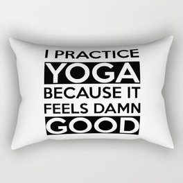 i practice yoga Rectangular Pillow