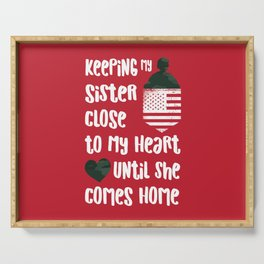 Red Friday Keeping Sister Close to Heart Serving Tray