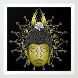 Buddha Face Art Print