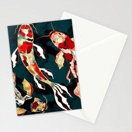 Metallic Koi Stationery Cards