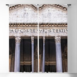 The Beautiful Pantheon of Rome, Italy Blackout Curtain
