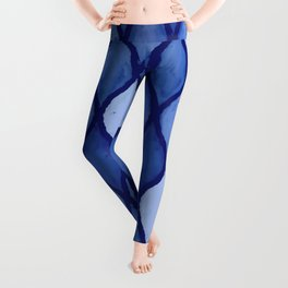 Calm Blue Wet Pastels Inspired by Waves and Tiny Seashells Leggings