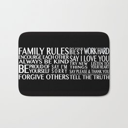 Family Rules Bath Mat