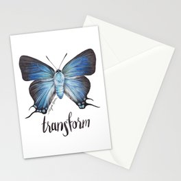 Butterfly - The Great Purple Hairstreak - ATLIDES HALESUS by Magda Opoka Stationery Cards