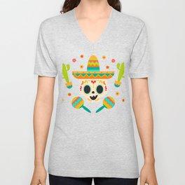 Mariachi Sombrero Mexico Busking Unisex V-Neck