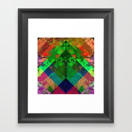 Beauty In Symmetry - Abstract, geometric, textured, symmetrical artwork Framed Art Print