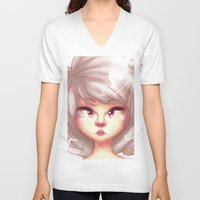 pastel V-neck T-shirts featuring pastel by ebazii