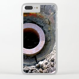 Wooden Wheel Clear iPhone Case