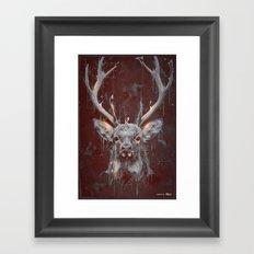DARK DEER Framed Art Print