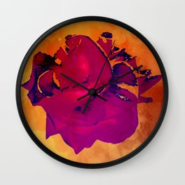 Violet Rose Wall Clock