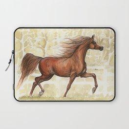 Running horse watercolor art Laptop Sleeve