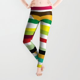Geometric Pattern 73 (colorful stripes) Leggings