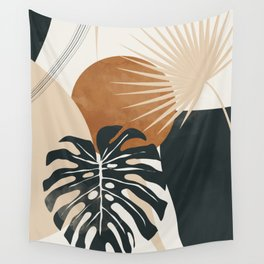 Abstract Art Tropical Leaves 7 Wall Tapestry