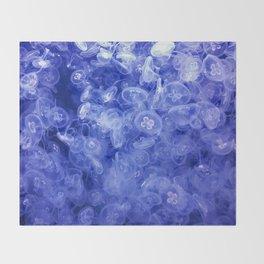 Jellyfish ocean Throw Blanket