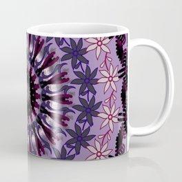 Mandala 13 Purple, Eggplant, Lavender and Lilac Mandela Art Coffee Mug