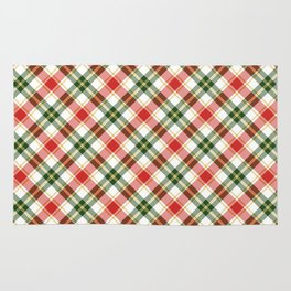 Christmas Plaid in Red and Green Rug