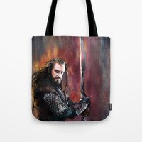 thorin Tote Bags featuring Thorin by Wisesnail
