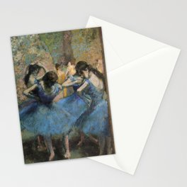Edgar Degas  -  Dancers In Blue Stationery Cards