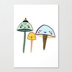 Cute Mushrooms. Canvas Print