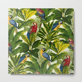 Fantastic Parrots Metal Print