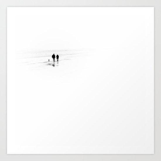 Not alone.... (square) Art Print