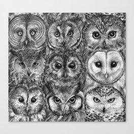 Owl Optics BW Canvas Print