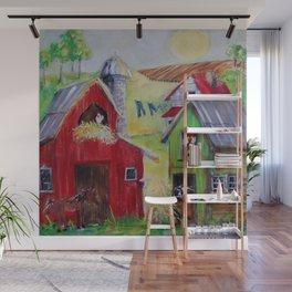 Whimsical Farm Wall Mural