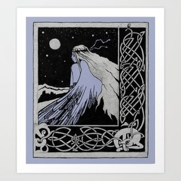 girl-bird Celticum Art Print