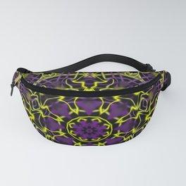Purple Yellow and Black Kaleidoscope Fanny Pack