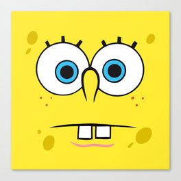 Spongebob Surprised Face Canvas Print