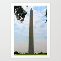 washington dc Art Prints featuring Washington DC by GregoryBurgess Photography