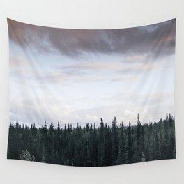 Alaska Trees in Denali National Park Wall Tapestry