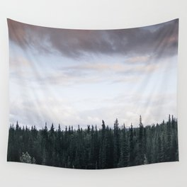 Alaska Trees in Denali National Park Wall Tapestry