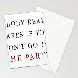 Nobody really cares Stationery Cards