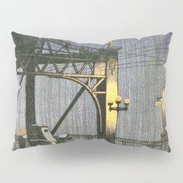 Twenty Views Of Tokyo, Shinohashi Bridge - Digital Remastered Edition Pillow Sham