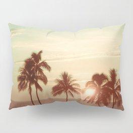 Sunset at Mauna Kea Beach, Hawaii Mint Pillow Sham