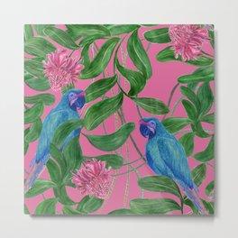 blue parrots Metal Print