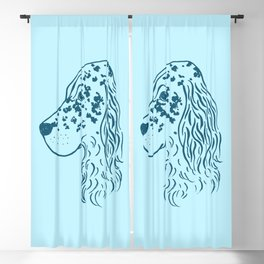 English Setter (Light Blue and Blue) Blackout Curtain