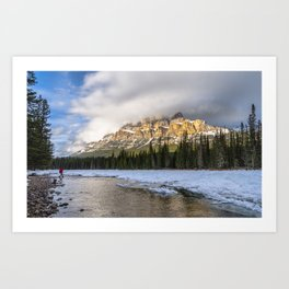 Into the mountains Art Print