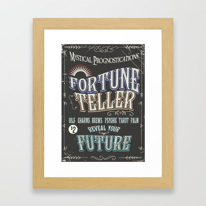 Mystical Fortune Teller poster Framed Art Print